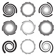 Optical Art Collection of Spirals with clipped edges