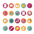 Stationery icons set. Illustration eps10