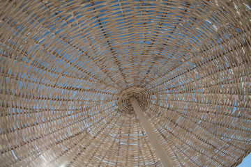 part of a beach umbrella of reed