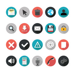 Set of web icons for business. Illustration eps10