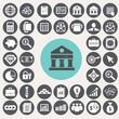 Finance and Banking icons set. Illustration eps10