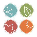 Fototapety Seasons icons