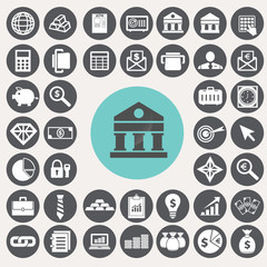 Finance and Banking icons set. Illustration eps10