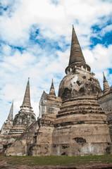 pagoda at ayutthaya historical park in thailand