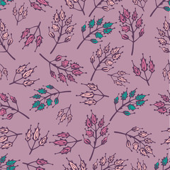 vector seamless background branches