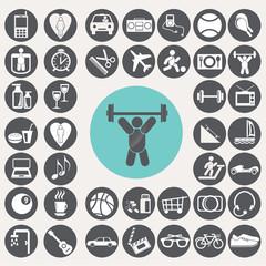 Lifestyle icons set. Illustration eps10