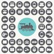 Train icons set. Illustration eps10