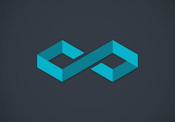 box 3D infinity vector logo