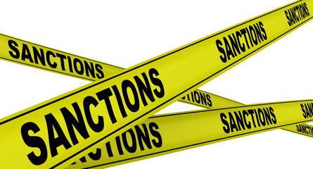 Санкции (sanctions). Желтая оградительная лента