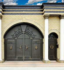 Large decorative gates and doors.