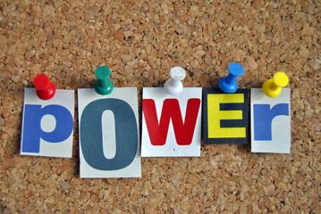 Slogan Pinnwand Power / Pinboard Slogan Power