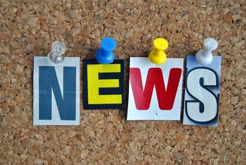 Slogan Pinnwand Nachrichten / Pinboard Slogan News