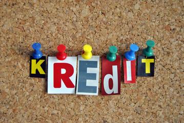 Slogan Pinnwand Kredit / Pinboard Slogan Credit
