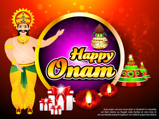 Onam Background With King Mahabali