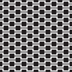 Abstract Seamless Black and White Geometric Texture