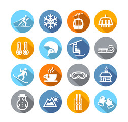 Winter Icons Flat Design