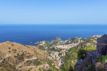 View of Taormina from Castelmola, Sicily