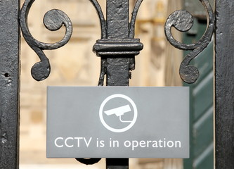 CCTV in operation sign in London