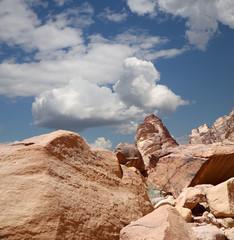 Mountains of Wadi Rum Desert ,Jordan, 60 km to the east of Aqaba