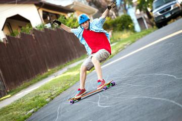Longboarder Teen