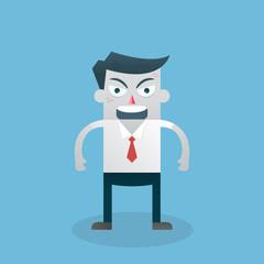 Cartoon businessman angry