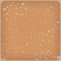 Polka dot background. Vintage vector rhombus pattern
