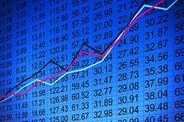 Stock market chart - Börsenchart
