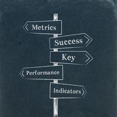 METRICS & PERFORMANCE & KPI Street signs (key indicator)