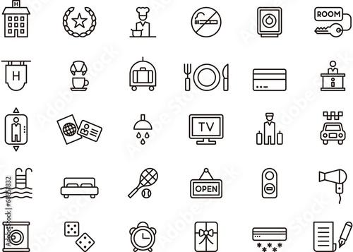 Zdjęcia na płótnie, fototapety, obrazy : Hotel icons