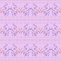 Pink floral seamless pattern ornament background print design