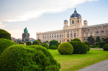 View of famous Naturhistorisches Museum in Vienna, Austria