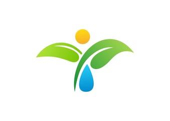 water drop,people,nature,logo,plant,leaf,energy,global