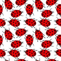 Ladybug seamless pattern © konstan
