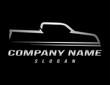 Sport truck logo black background