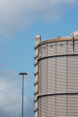 very large industrial  storage tank