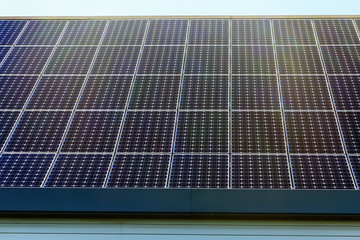Solar panel on a low-energy house consumption