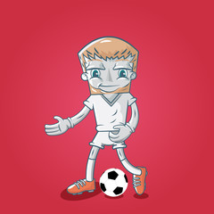 Vector illustration of england soccer player