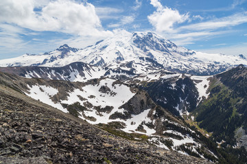 The north face of Mt. Rainier from the Mt. Freemont Trail