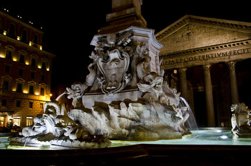 Pantheon fountain in Rome