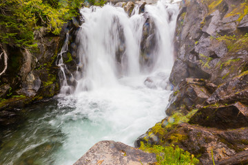 Waterfall on the Paradise River, Mt. Rainier National Park