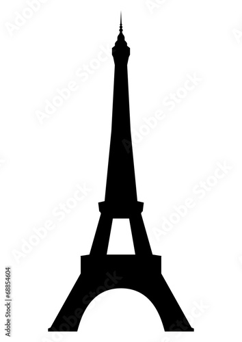 Aluminium Parijs Eiffel tower in Paris. Vector EPS10.