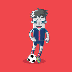 Vector illustration of Japanese soccer player