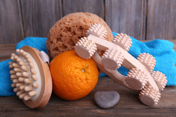 Roller brush, mop, towel, orange and oval brushes