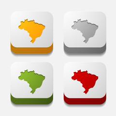 square button: brazil