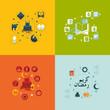 Zdjęcia na płótnie, fototapety, obrazy : flat infographic: Ramadan Kareem