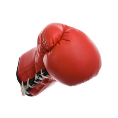 Boxhandschuh isoliert auf weißem Hintergrund