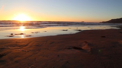 Time Lapse Sunset at Beverly Beach State Park, Oregon