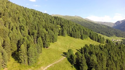 Beautiful Hiking Area in the Austrian Alps - Aerial Flight