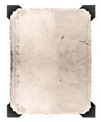 vintage photo with corner isolated on white. aged paper