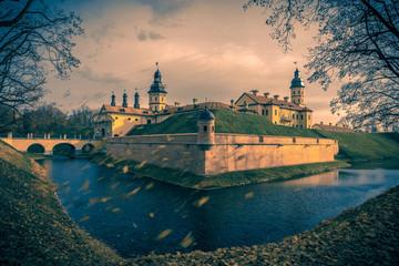 Medieval castle Nesvizh in Belarus